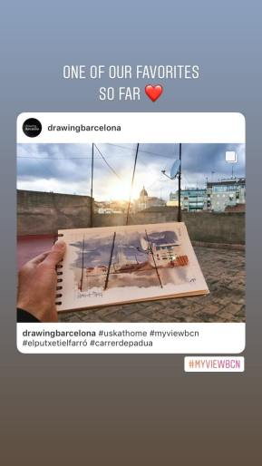 #myviewbcn photo from @drawingbarcelona
