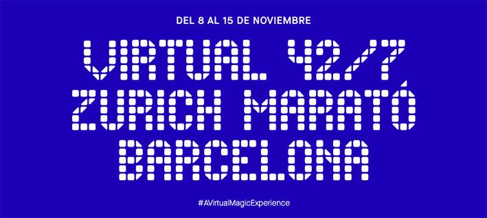 Virtual 42/7 Zurich Marató Barcelona banner