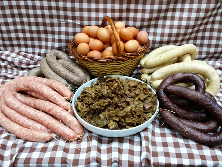 Ingredients for making typical food Catalonian Carnival food