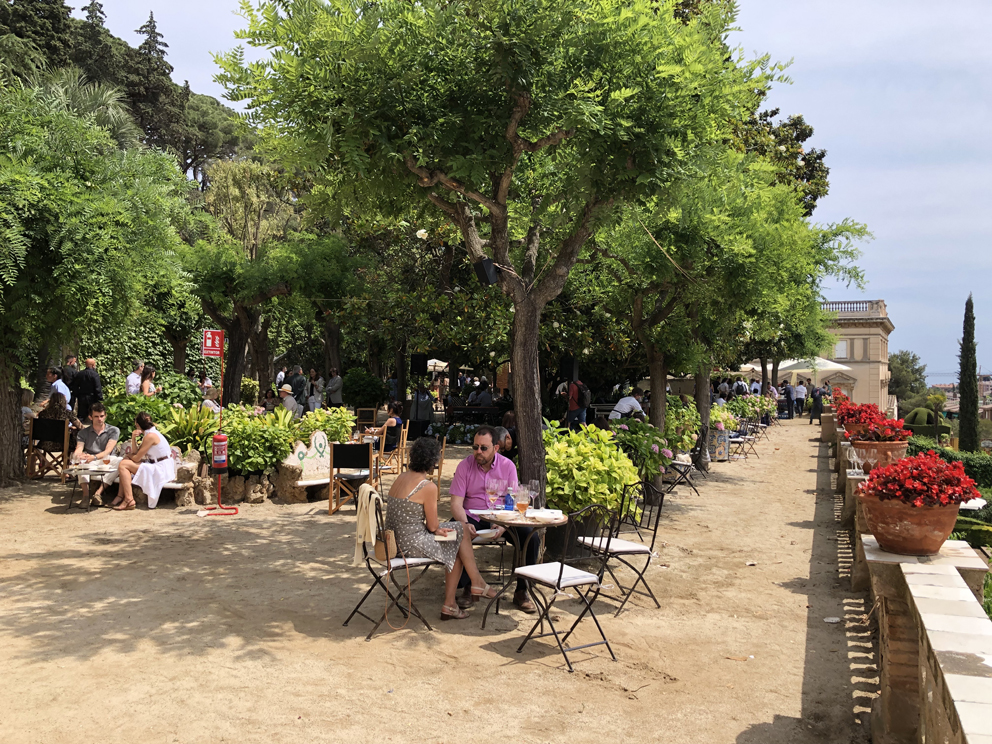 View of main seating area at oríGenes Gastronomic Festival 2021