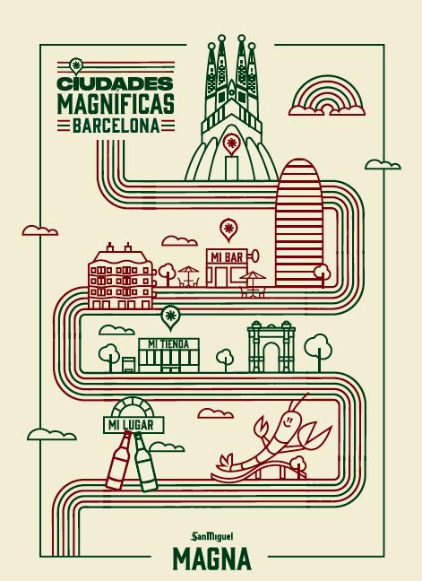 Ciudades Magníficas Barcelona poster